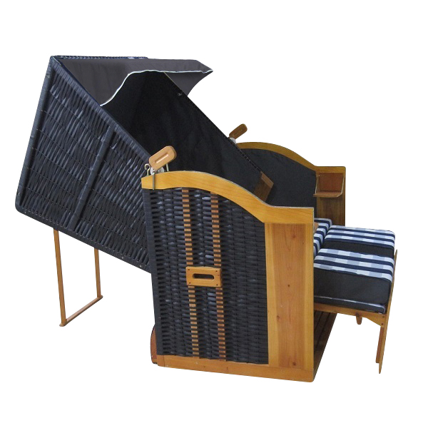 home it premium rattan strandkorb ostsee xxl 158 cm 3 sitzer mit kissen ebay. Black Bedroom Furniture Sets. Home Design Ideas