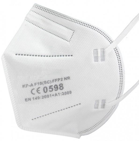 10x Care Profi FFP2 NR Atemschutzmaske CE 0598 EN 149:2001 Größe L