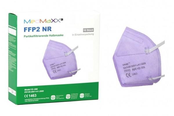 1x MedMaXX FFP2 NR Atemschutzmaske Größe XS, auch für Kinder geeignet, lila