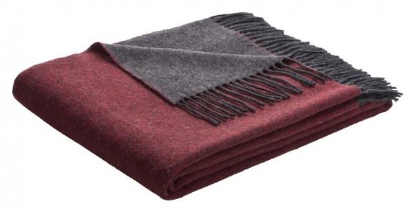 Biederlack Wohndecke Cosy & Luxury 130x170 cm Rot-Anthrazit