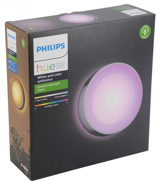 Philips Hue White and Color Ambiance Daylo Outdoor Wandleuchte silber