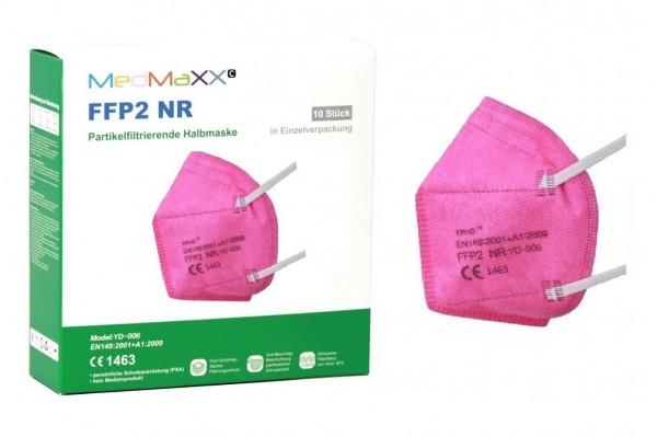 1x MedMaXX FFP2 NR Maske Größe XS, auch für Kinder geeignet, pink