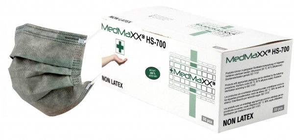 MedMaXX HS-700E-GR OP Maske Typ II EN 14683 grau 50 Stück