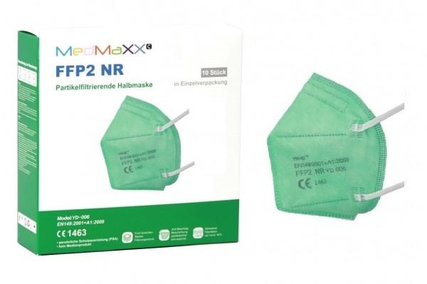 1x MedMaXX FFP2 NR Maske Größe XS, auch für Kinder geeignet, grün