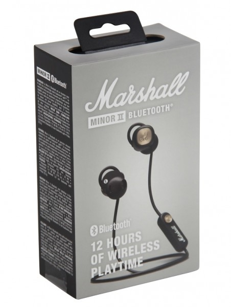 Marshall Minor II Bluetooth In-Ear Kopfhörer Mikrofon schwarz