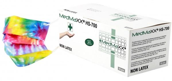 MedMaXX HS-700E-BU OP Maske Typ II EN 14683 bunt 50 Stück