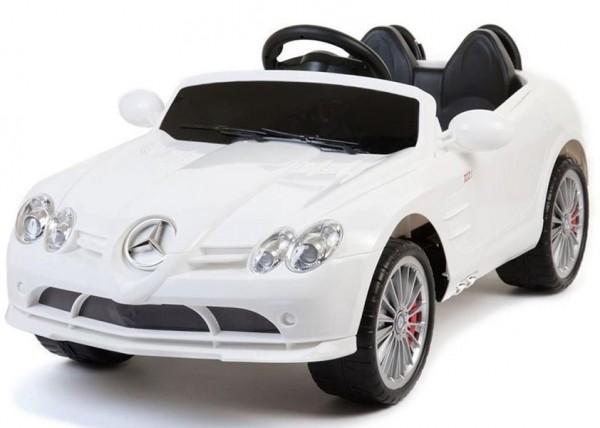 Mercedes Benz SLR McLaren RC Elektroauto, 12V Batterie, 2x 35W Motoren weiss