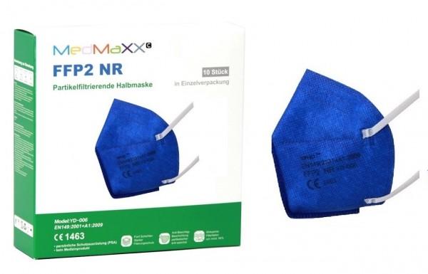 1x MedMaXX FFP2 NR Atemschutzmaske Größe XS, auch für Kinder geeignet, dunkelblau
