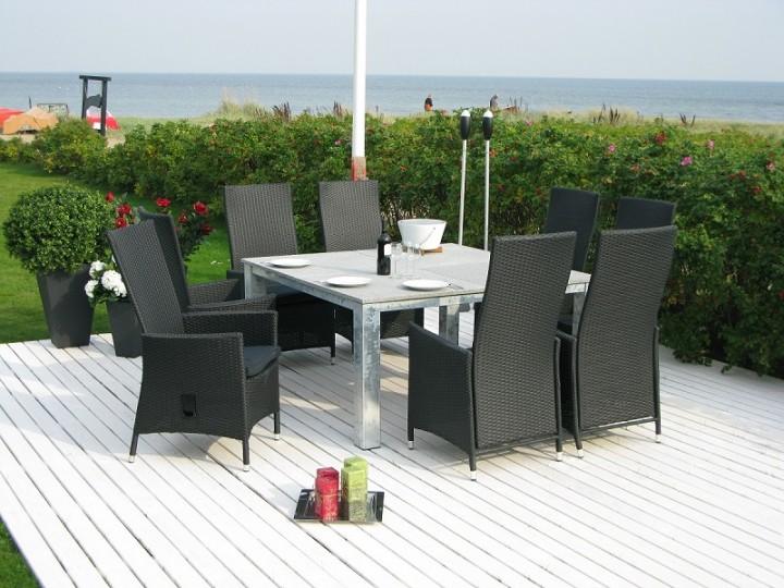 Gartenmobel Set Verona : Home>it® Polyrattan Sessel schwarz, verstellbar mit Sitzkissen  Home