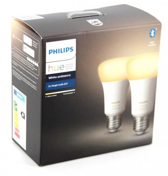Philips Hue White Ambiance E27 LED Lampe Doppelpack 2x 8,5 W B-Ware