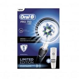 Braun Oral-B PRO 750 Black Elektrische Zahnbürste mit gratis Reiseetui