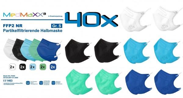 40x MedMaXX FFP2 NR Maske Größe S, auch für Kinder geeignet, BOY