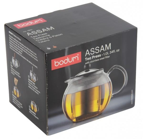 Bodum Assam Teebereiter 1.0 Liter mit Edelstahlfilter