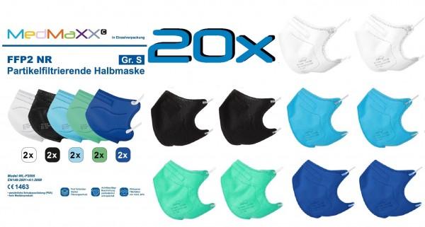 20x MedMaXX FFP2 NR Maske Größe S, auch für Kinder geeignet, BOY